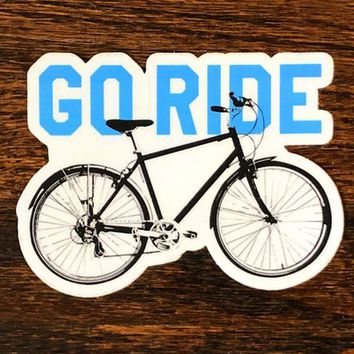 Go Ride - All weather vinyl sticker