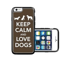 RCGrafix Brand Keep-calm-love-dogs iPhone 6 Case - Fits NEW Apple iPhone 6