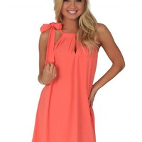 Hiding My Heart Dress in Coral | Monday Dress Boutique