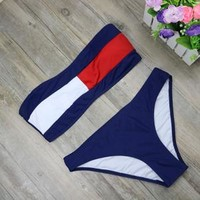 Navy Split Swim Set (2-Pieces)