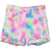 ROMWE   Rolled Cuffs Tie-dyed Shorts, The Latest Street Fashion