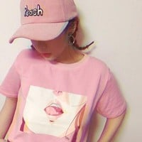 Femme Ulzzang Printed T-Shirt