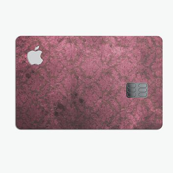 Grungy Black and Maroon Damask Pattern - Premium Protective Decal Skin-Kit for the Apple Credit Card