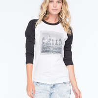 Young & Reckless Rope L.A. City Womens Baseball Tee Black/White  In Sizes