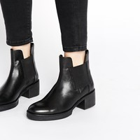 ASOS ROYALTY Leather Chelsea Ankle Boots