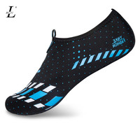 Men Woman Foldable Waterproof Barefoot Skin Sock Striped Shoes for Running Surfing Swimming Beach Sports Slip on Plus Size Shoes