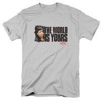 SCARFACE/THE WORLD IS YOURS - S/S ADULT 18/1 - SILVER -