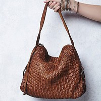 Tano Leather Womens Woven Wishes Leather Tote