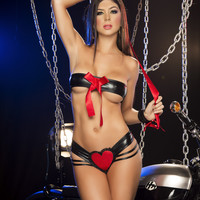 Two Piece Set Lingerie Set with Wrist Cuff
