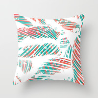 Calathea Majestica Throw Pillow by Allison Holdridge