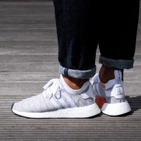 Best Online Sale Adidas NMD R2 PK Footwear White / Core Black Boost Sport Running Shoes Classic Casual Shoes Sneakers