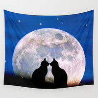 The Love Cats Wall Tapestry by Pirmin Nohr