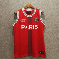 PSG Paris Saint-Germain F.C. X Air Jordan Basketball Jerseys Red - Best Deal Online