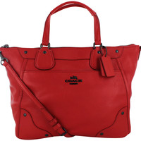 Coach Mickie Women's Leather Satchel Handbag Bag