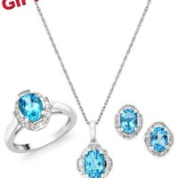 Blue and White Topaz Jewelry Set in Sterling Silver (4-1/3 ct. t.w.) | macys.com
