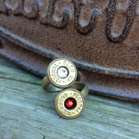 Bullet jewelry. Couple's ring or mother's ring. Bullet ring