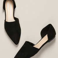 Pointed Toe Open Sides Slip On Ballet Flats