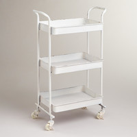 White Austin 3-Tier Metal Cart - World Market