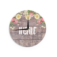 "Suzanne Carter ""Inspire"" Contemporary Typography Wall Clock"