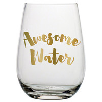 awesome water stemless wine glass