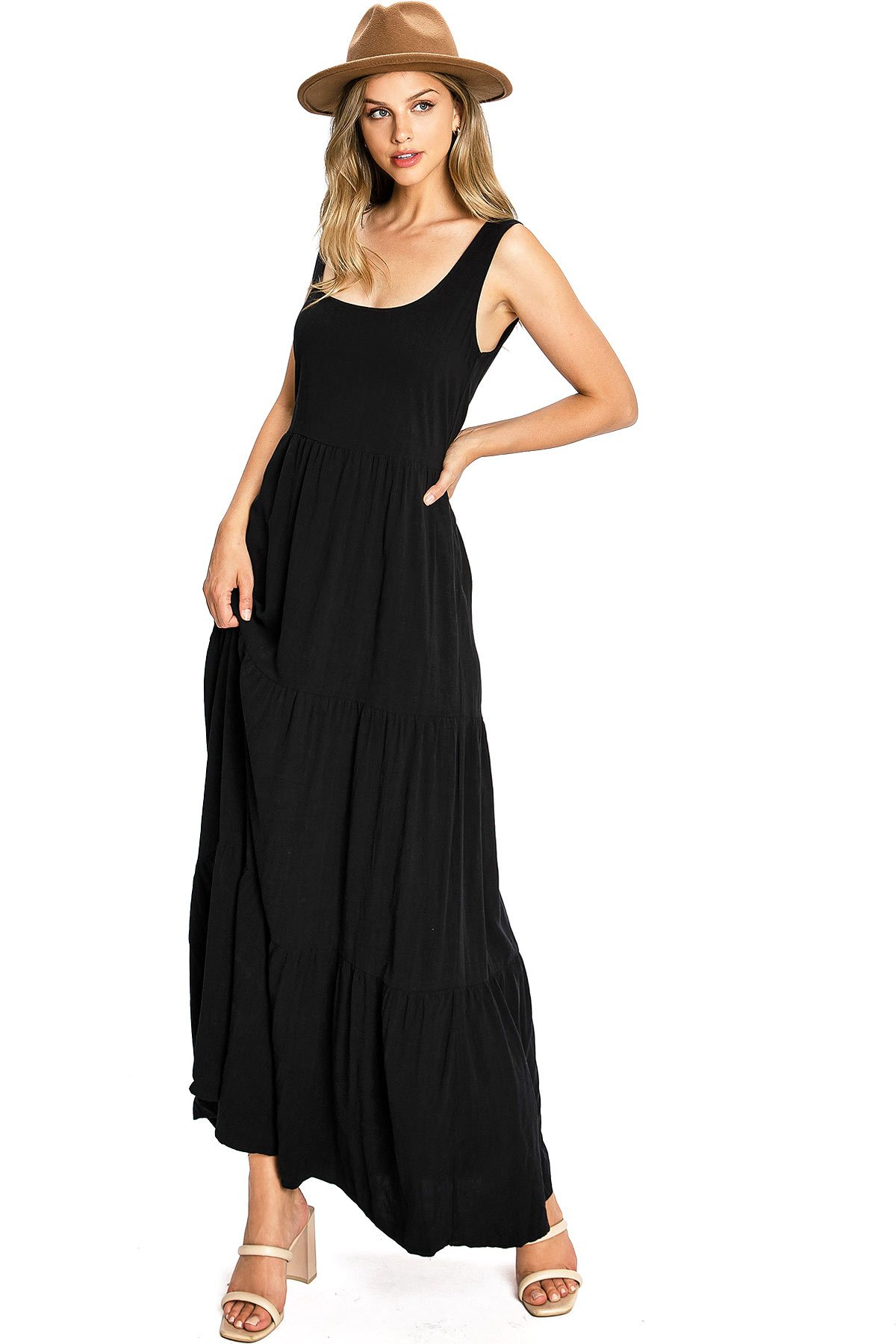 Image of Luxe Linen Maxi Dress