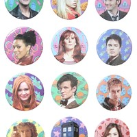 DOCTOR WHO BUTTONS