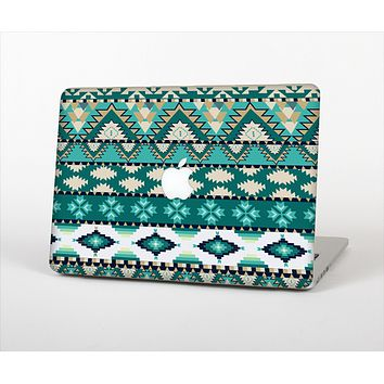 "The Vector Teal & Green Aztec Pattern  Skin Set for the Apple MacBook Pro 15"" with Retina Display"