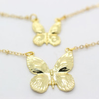Necklace, butterfly necklace, mom and baby necklace, Christmas gift, birthday gift