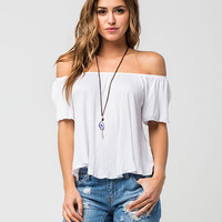 H.I.P. Off The Shoulder Womens Peasant Top | Knit Tops & Tees