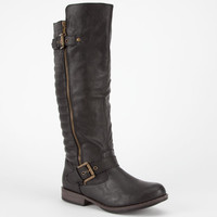 Bamboo Montage Womens Boots Black  In Sizes