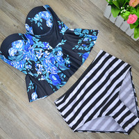 High Waist Peplum Swimsuit