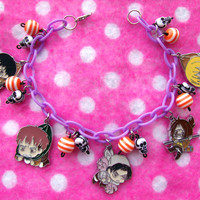Attack on Titan Survey Corps Charm Bracelet