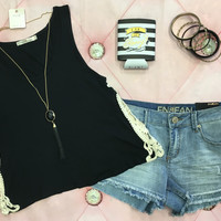 Lovely Lace Cropped Tank