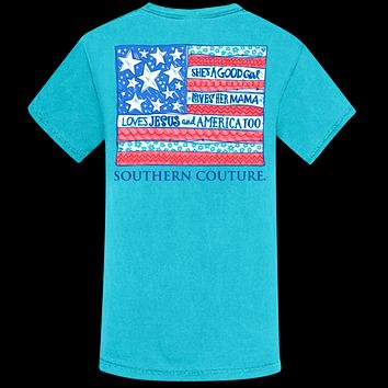 Southern Couture She's A Good Girl USA Comfort Colors T-Shirt