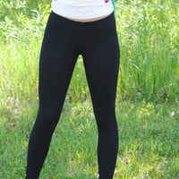 Black Ankle Legging