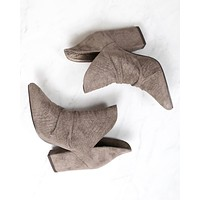 Miracle Miles - Kendell Pointed Toe Bootie in Snakeskin Grey