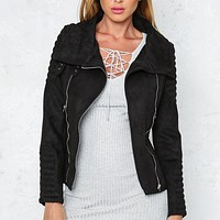 last kiss chic jacket - black
