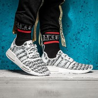 Best Online Sale Fear Of God FOG x Adidas Consortium NMD R1 White / Black Boost Sport Running Shoes Classic Casual Shoes Sneakers