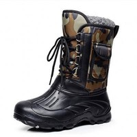 On Sale Hot Deal Waterproof Men Outdoors Fishing Shoes Skiing Boots [118134538265]