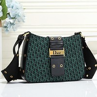 Dior Bag women bag Saddle bag Crossbody bag one shoulder bag metal lock bag green