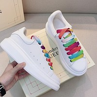 Alexander McQueen fashion new men's and women's white shoes casual sneakers shoes 1