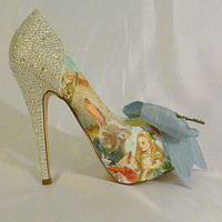 Alice in Wonderland theme wedding shoes   by everlastinglifashion