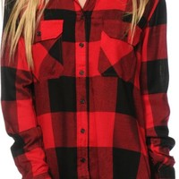 Thread & Supply Oversized Red Plaid Shirt