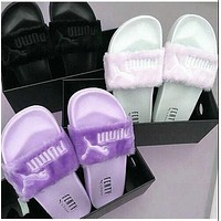 """PUMA"" Rihanna Fenty Leadcat Fur Women Slipper shoes"