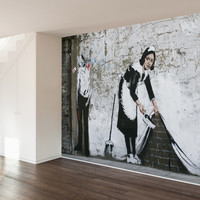 Sweep It Under Wall Mural Decal