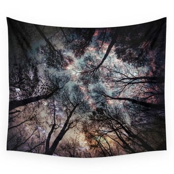 Society6 Starry Sky In The Forest Wall Tapestry