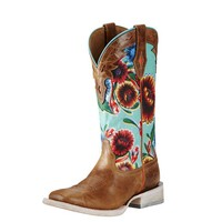 Ariat Boots Women's Circuit Champion Floral Cowgirl Boots Style #10019943