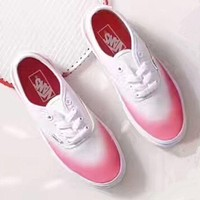 Vans Black/ Pink Classic Canvas Leisure Shoes