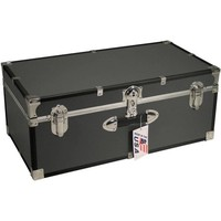 "Seward™ Stackable Footlocker Trunk, 30"", Gray - Walmart.com"