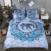 India 3D elephant comforter bedding sets printing Luxury Bohemian duvet cover set queen king Size bed sets  bed line 3 Pcs